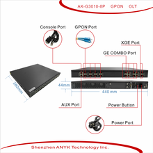 1U 8 uplink GE optical port and 8 GE electrical ports gpon epon olt,epon onu/gepon olt,gepon olt sfp/ftth olt