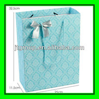 ribbon tie blue color printing art paper gift shopping use paper bag size