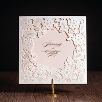 2016 new arrival laser cut wedding invitations wholesale prices cw5197