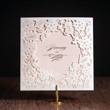 2017 new arrival laser cut wedding invitations wholesale prices cw5197