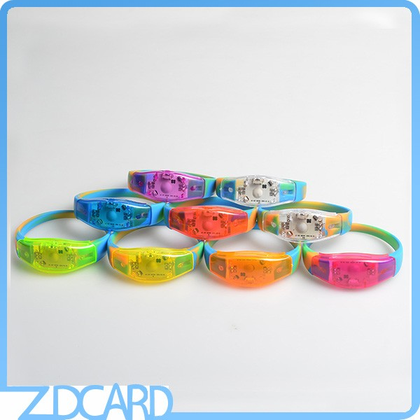 Colorful Party Events Silicone LED Wristbands