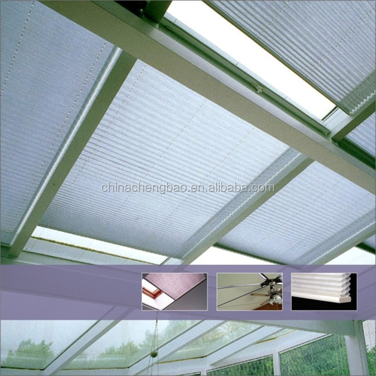 European Style Honeycomb Blind Motorized Skylight Pleated