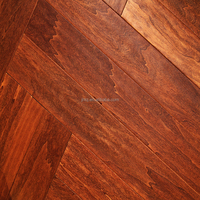 Poplar Antique Engineered Wood Flooring Stable Superior Quality
