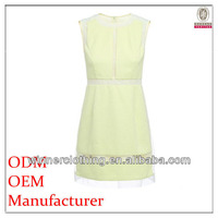 The most fashionable high-end ladies' simple design sleeveless corporate dresses