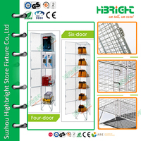 5 tiers steel wire mesh shoes locker