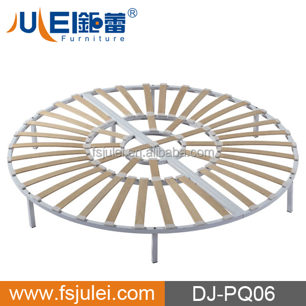 modern steel & wood round folding chop slat bed frame base DJ-PQ06