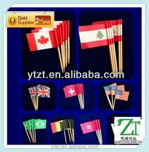 golden supplier customized mini flag toothpick 100 pcs pack