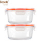 Round Food Thermos Take Out Bento Lunch Box Wholesale Airtight Glass Containers