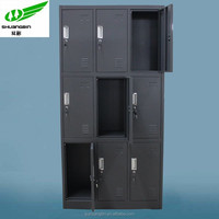 Luoyang metal/steel simple design fashion cheap school 9 door locker prices made in China