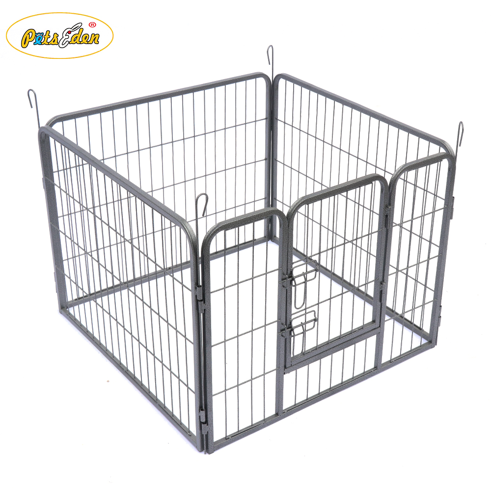 4 Panelsl Heavy Duty Puppy Dog Pet Playpen Run Enclosure Metal Cage