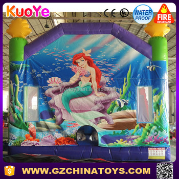 Commercial the mermaid giant inflatable bounce house for kids