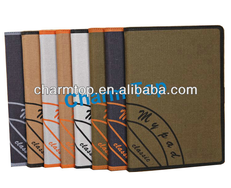 2014 Newly Canvas Leather Stand Case For iPad Air