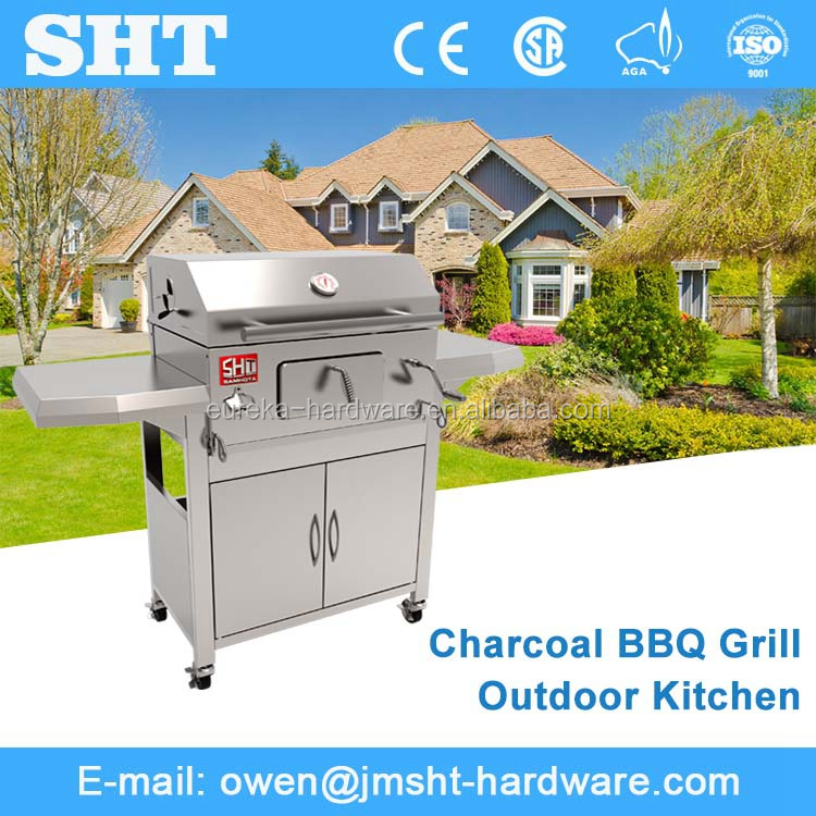 Hot Sales European Popular All Stainless Modern Barbecue Charcoal Grill