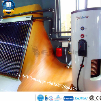 High tech solar water heater for Europe with ISO EN12975 CE CSA SRCC certified