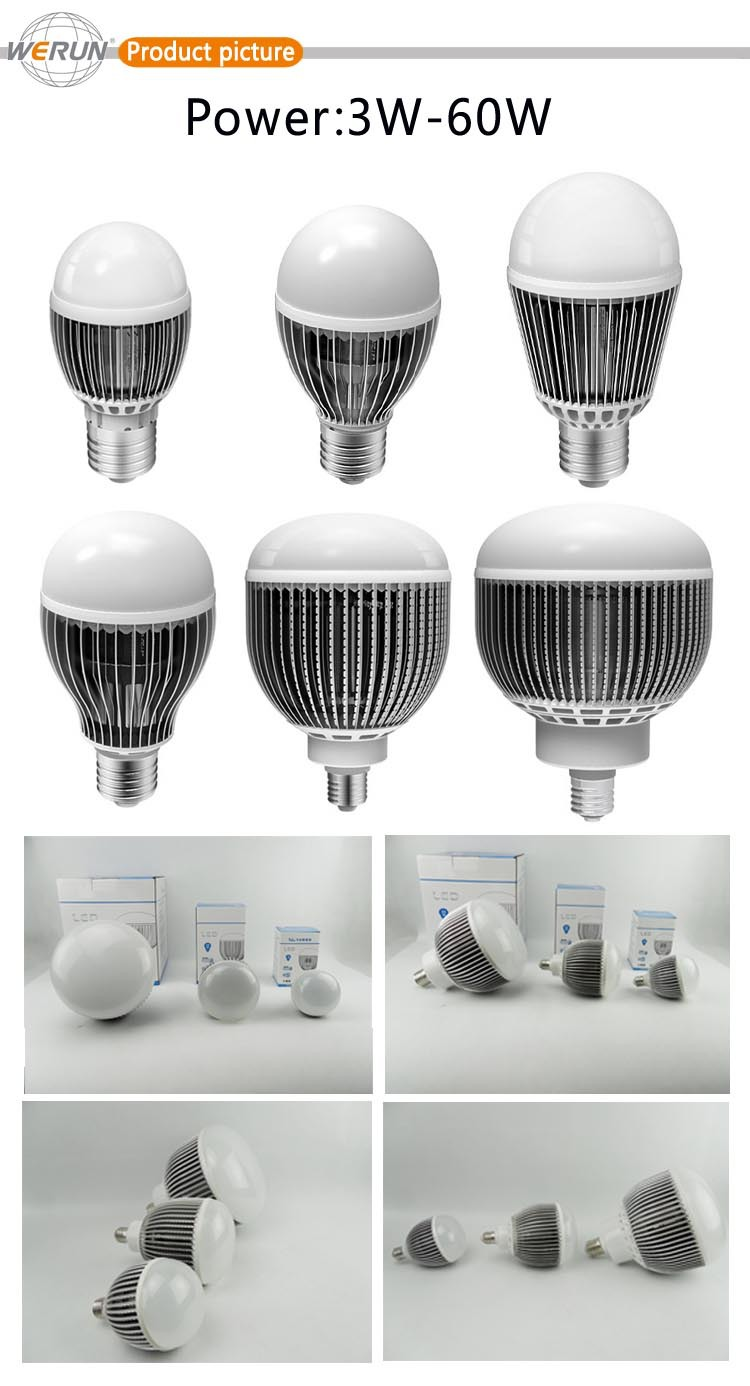 beautiful design excellent Heat Dissipation aluminum light saving bulbs