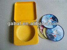 drink cup custome tin metal coaster set