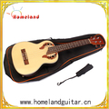 "23""inch Wood charcoal Ukulele installed EQ Children Mini Guitar"