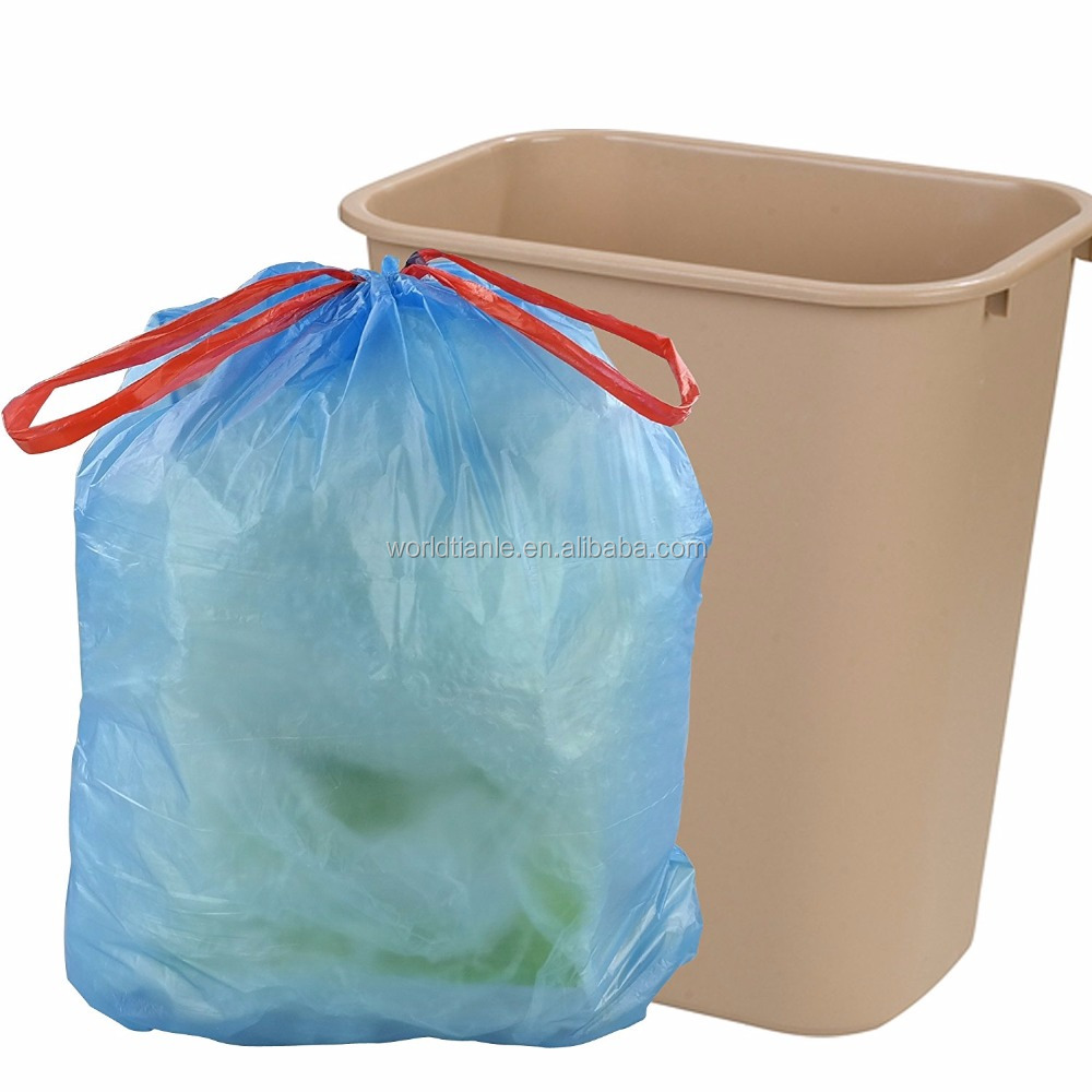 Custom Size Tall Kitchen Drawstring Trash Bags 30-45 Liter / 8-12 ...