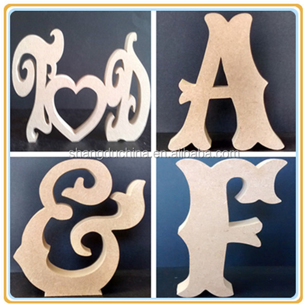 New arrive laser cutting home decor wooden arts and crafts gift letters
