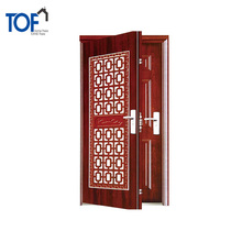Custom design cheap exterior steel main door iran luxury main iron door