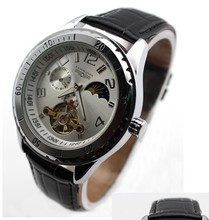 Mens Fashion Date Day Moonphase Automatic Mechanical Sport Watch