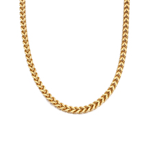 Titanium Steel Gold Color Lock Clasp Hiphop Franco Chain Necklace Jewelry for Man