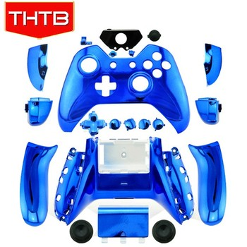 Metal plated blue housing shell for Microsoft xbox one controller