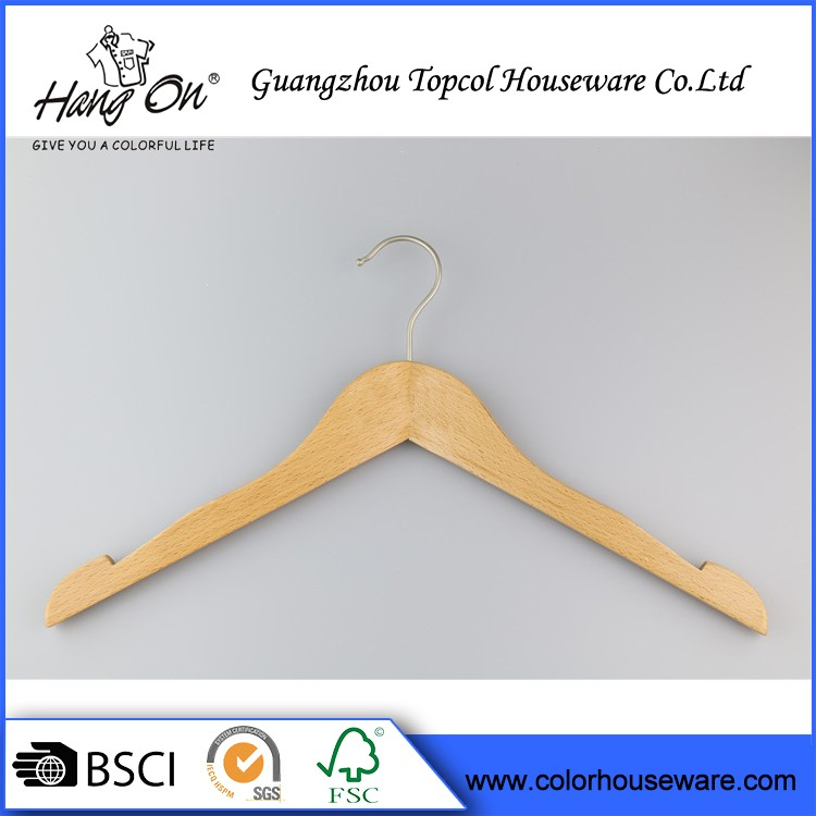 A Grade Normal Clothes Wooden Hanger Wood Hangers Non Slip For Pants