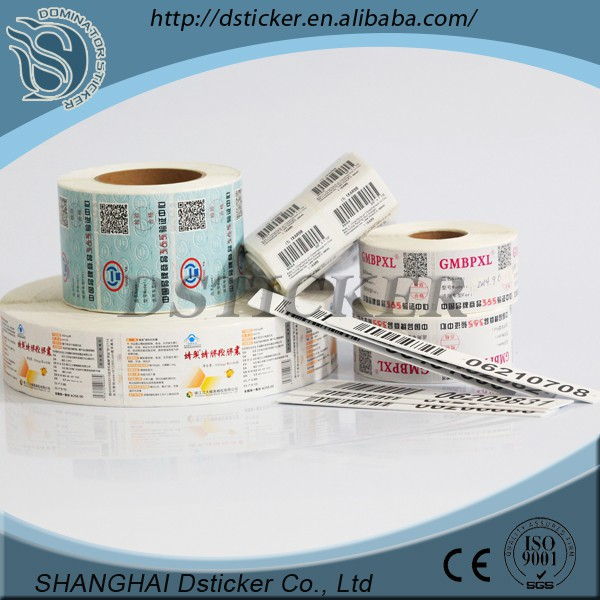 Art paper/pp/custom Alibaba China printing label,pre printed price labels for packaging