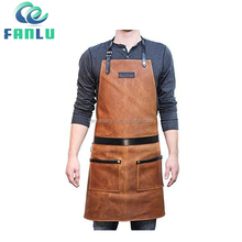 Snap Front Cobbler Leather Working Apron