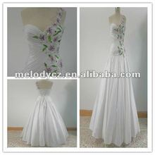Elegant white puff ball gown freshness flowers tall mother of the bride dresses