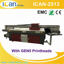 Topcolor high output 70sqm/h a2 uv flatbed printer 2.5mx1.3m uv flatbed printing machine price