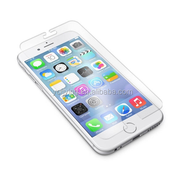 Alibaba glod supplier full size custome tempered glass screen protector for iphone 6 bubble free