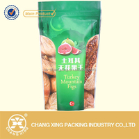 Custom printed dried fruit packaging bag/ stand up ziplock pouch for dried vegetable food