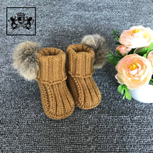 Wholesale 0-3-6-12 Month Kids China Manufacturers Crochet Knitted Slippers Hand Knit Booties Soft Baby Shoes