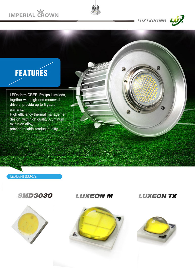 UL certification 200w industry led high bay light