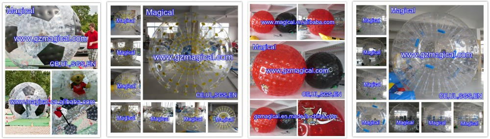 body zorbing bubble ball/inflatable body bumper ball