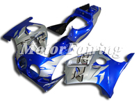 Press Mold Fairing for HONDA CBR250RR MC19 1989 1990 CBR250 89 90 CBR 250RR ABS Body kits Blue Silver Free Gifts