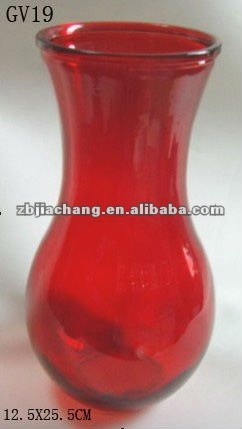 fashional red Crystal glass vase