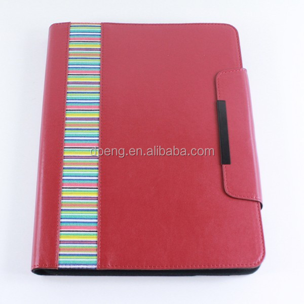 New arrival women business notebook design leather cover for ipad air