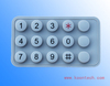 security keypad Silica gel IP65 rated 15 digital keys K4