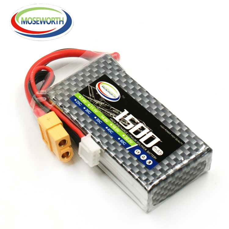 11.1v lipo battery 3s 1500mah 25C high quality with cheap price