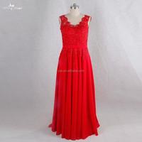 RSE719 Sexu Back Open Evening Dress Red Sexy Mature Party Dress