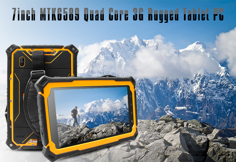 7inch Android OEM/ODM Rugged IP68 3G calling Tablet PC