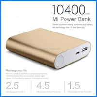 Hot sale universal external for xiaomi power bank 10400mah powerbank portable charger