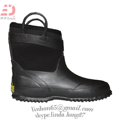 5mm neoprene lining child colour balck boys neoprene boots winter warm shoes waterproof shoes
