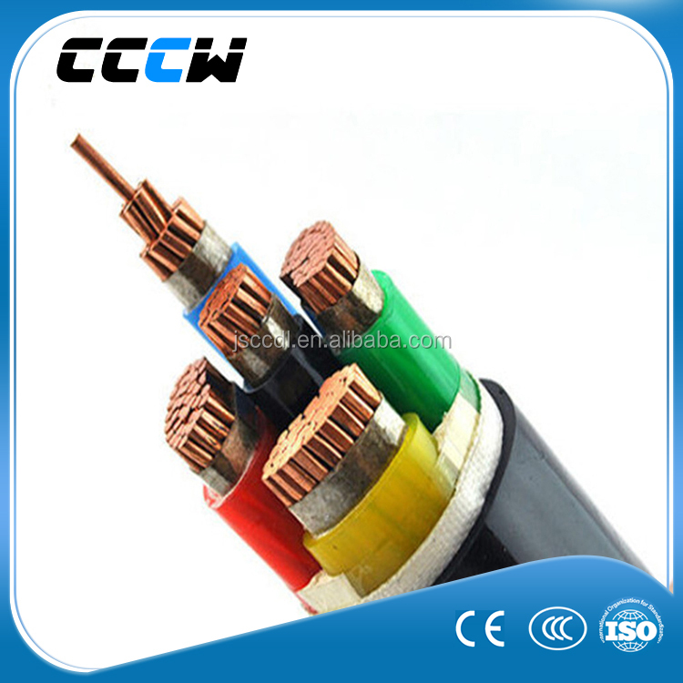 XLPE insualtion and PVC sheath 5 core electric power cable with 0.6/1KV
