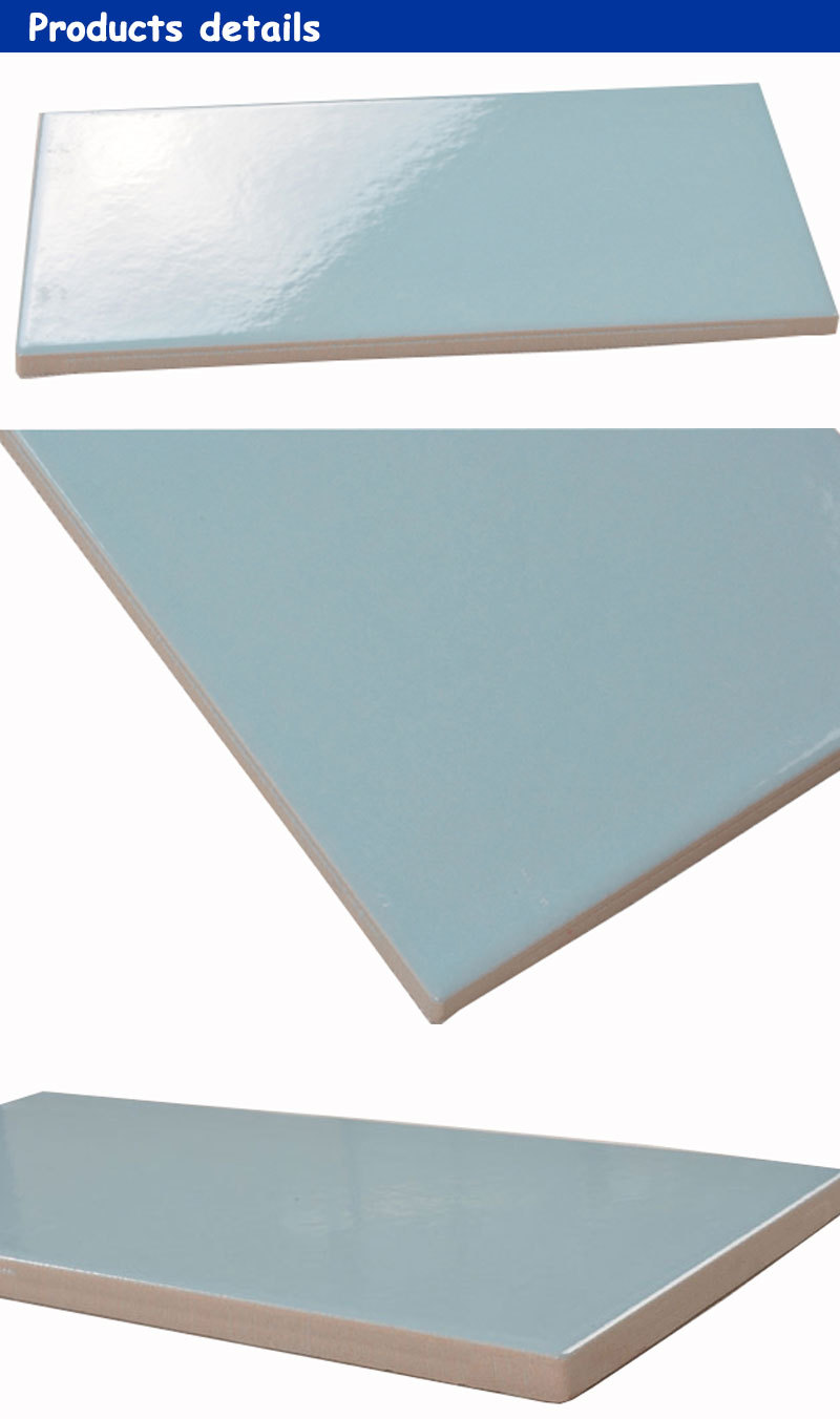 244*119mm international standard sky blue wall tile swimming pool ceramic tiles