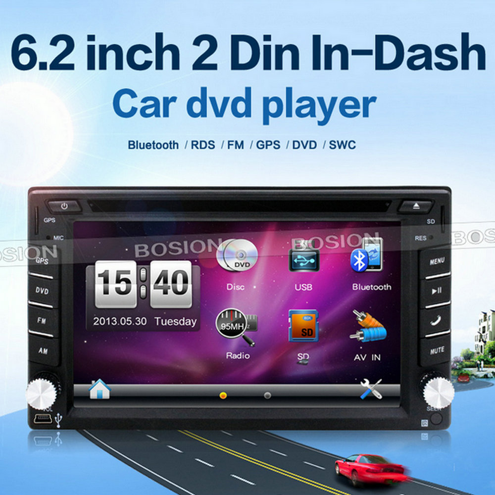 6.2inch 2 Din In-dash Universal Steering Wheel Control Automobile Car Radio Navigation