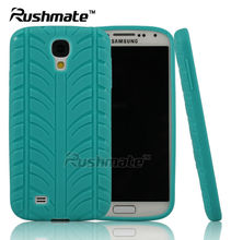 Wholesale Tire Design Green Cell Phone Accessories For Samsung I9500 Galaxy S4 TPU Case Cover